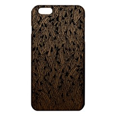 Brown Ombre feather pattern, black, iPhone 6 Plus/6S Plus TPU Case