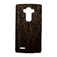 Brown Ombre feather pattern, black, LG G4 Hardshell Case