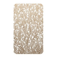Brown Ombre feather pattern, white, Memory Card Reader (Rectangular)
