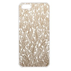 Brown Ombre feather pattern, white, Apple iPhone 5 Seamless Case (White)