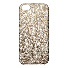 Brown Ombre feather pattern, white, Apple iPhone 5C Hardshell Case
