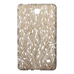 Brown Ombre feather pattern, white, Samsung Galaxy Tab 4 (7 ) Hardshell Case