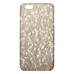Brown Ombre feather pattern, white, iPhone 6 Plus/6S Plus TPU Case