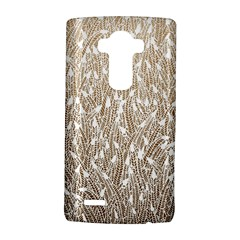 Brown Ombre Feather Pattern, White, Lg G4 Hardshell Case
