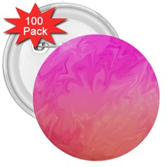 Ombre Pink Orange 3  Buttons (100 pack)