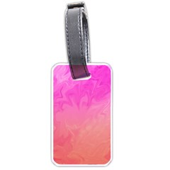 Ombre Pink Orange Luggage Tags (One Side)