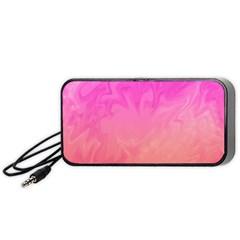 Ombre Pink Orange Portable Speaker (Black)