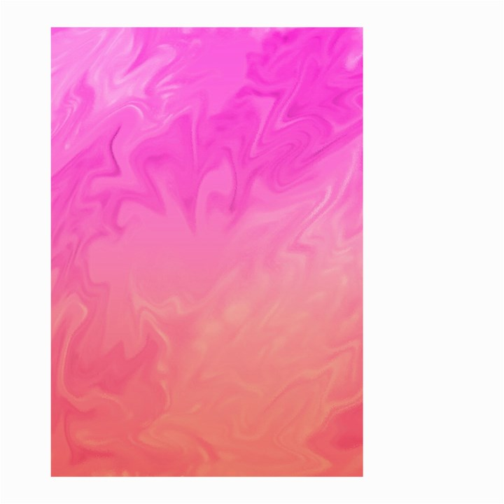 Ombre Pink Orange Small Garden Flag (Two Sides)