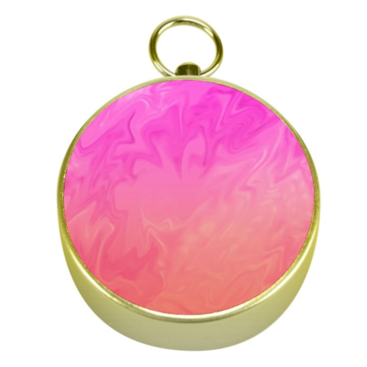 Ombre Pink Orange Gold Compasses