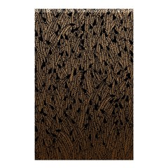 Brown Ombre feather pattern, black, Shower Curtain 48  x 72  (Small)