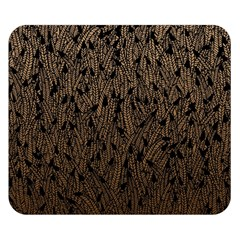Brown Ombre feather pattern, black, Double Sided Flano Blanket (Small)