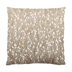 Brown Ombre Feather Pattern, White, Standard Cushion Case (two Sides)