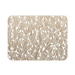 Brown Ombre feather pattern, white, Double Sided Flano Blanket (Mini)