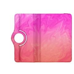 Ombre Pink Orange Kindle Fire HDX 8.9  Flip 360 Case
