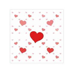 Centered Heart Small Satin Scarf (Square)