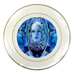 Clockwork Blue Porcelain Plates