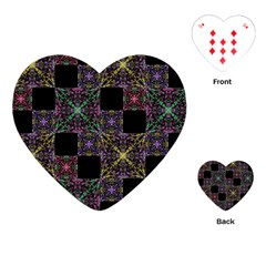 Ornate Boho Patchwork Playing Cards (Heart)