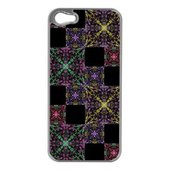 Ornate Boho Patchwork Apple iPhone 5 Case (Silver)