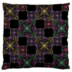 Ornate Boho Patchwork Standard Flano Cushion Case (Two Sides)