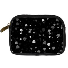 Black and White Hearts Digital Camera Cases