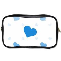 Blue Hearts Toiletries Bags 2-Side