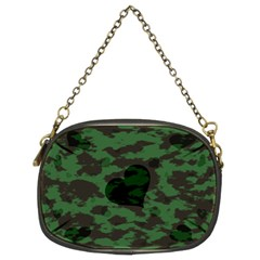 Green Camo Hearts Chain Purses (two Sides)