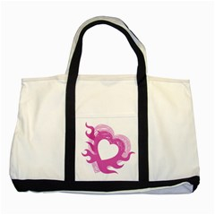 Hot Pink Love Two Tone Tote Bag