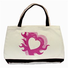 Hot Pink Love Basic Tote Bag (Two Sides)