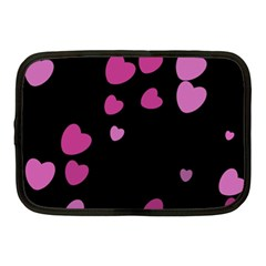 Pink Hearts Netbook Case (Medium)