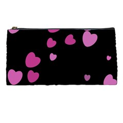 Pink Hearts Pencil Cases