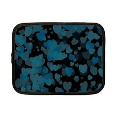 Turquoise Hearts Netbook Case (Small)