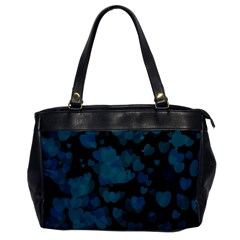 Turquoise Hearts Office Handbags