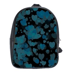 Turquoise Hearts School Bags (XL)