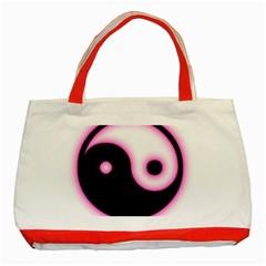 Yin Yang Glow Classic Tote Bag (red)