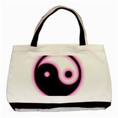 Yin Yang Glow Basic Tote Bag (Two Sides)