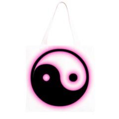 Yin Yang Glow Grocery Light Tote Bag