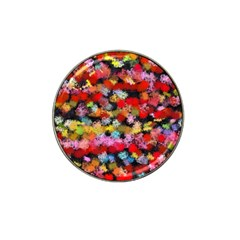 Colorful brush strokes                                             Hat Clip Ball Marker