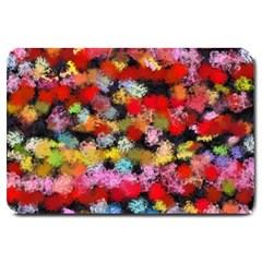 Colorful brush strokes                                             			Large Doormat
