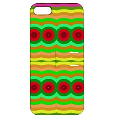 Circles and waves                                              			Apple iPhone 5 Hardshell Case with Stand