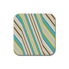 Bent stripes                                               			Rubber Square Coaster (4 pack