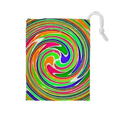 Colorful Whirlpool Watercolors                                                Drawstring Pouch