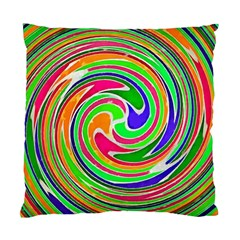 Colorful Whirlpool Watercolors                                                standard Cushion Case (two Sides)