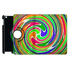 Colorful whirlpool watercolors                                                			Apple iPad 2 Flip 360 Case