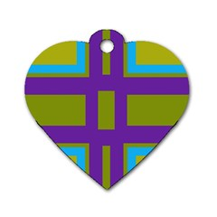 Angles and shapes                                                 			Dog Tag Heart (One Side)