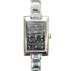 Ecuador Landscape Scene At Andes Range Rectangle Italian Charm Watch