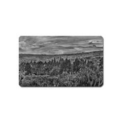 Ecuador Landscape Scene At Andes Range Magnet (name Card)