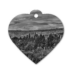 Ecuador Landscape Scene At Andes Range Dog Tag Heart (One Side)
