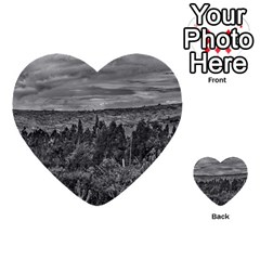 Ecuador Landscape Scene At Andes Range Multi Purpose Cards (heart)