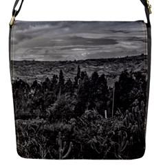 Ecuador Landscape Scene At Andes Range Flap Messenger Bag (S)