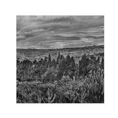 Ecuador Landscape Scene At Andes Range Small Satin Scarf (Square)